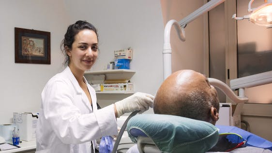 Dentist Assistant in a Clinic for Homeless