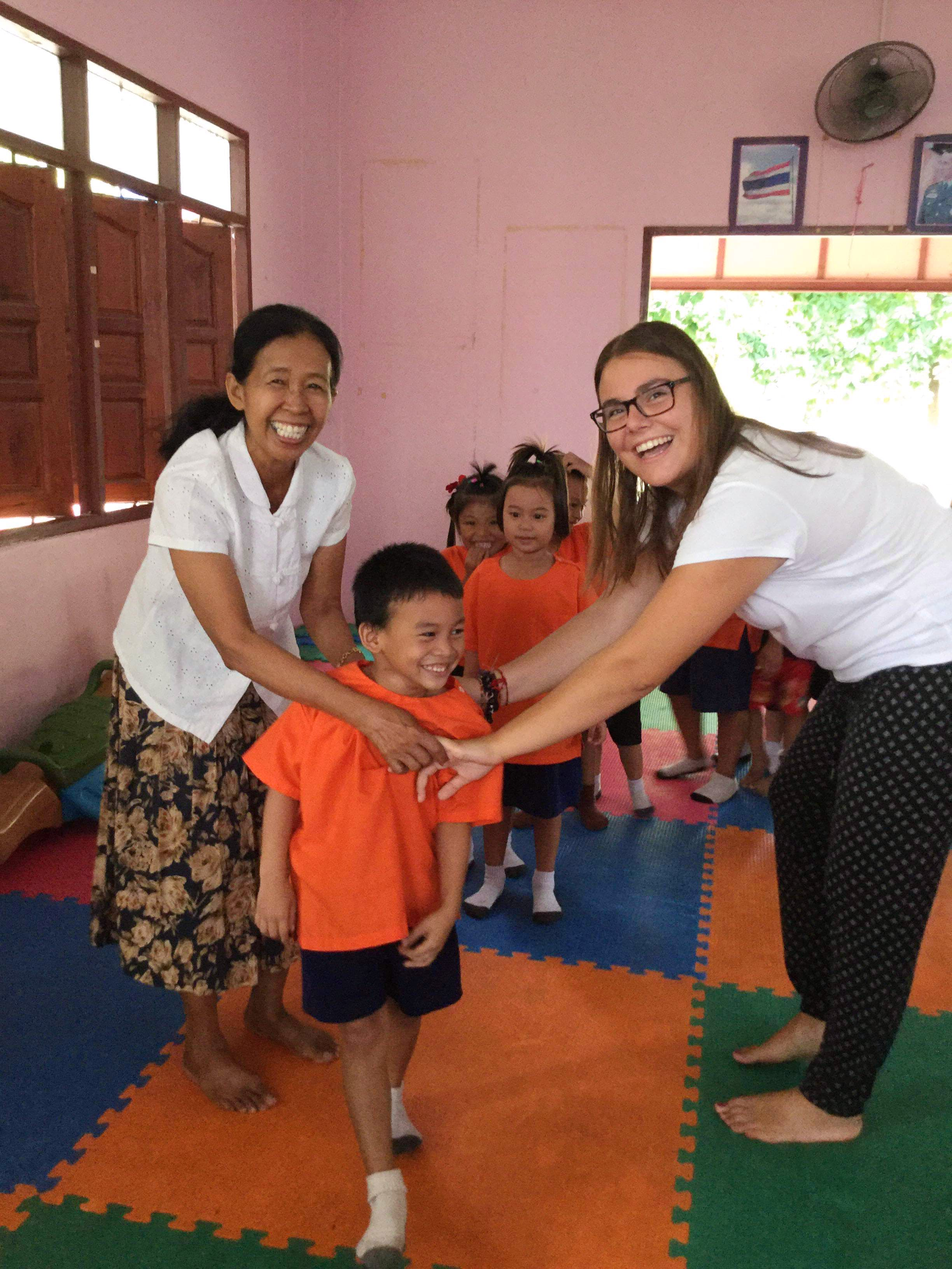 Teaching English in local schools
