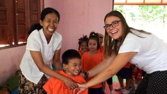 Teaching English in local schools