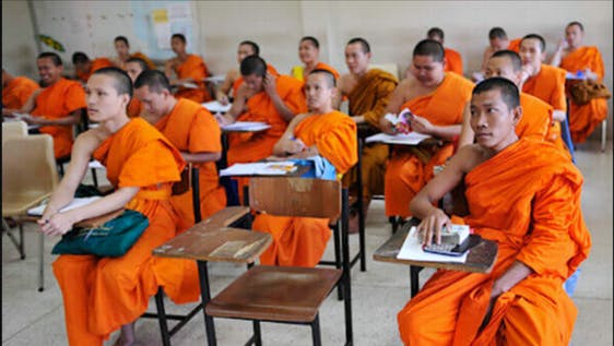 Teaching English to Thai buddhist monks