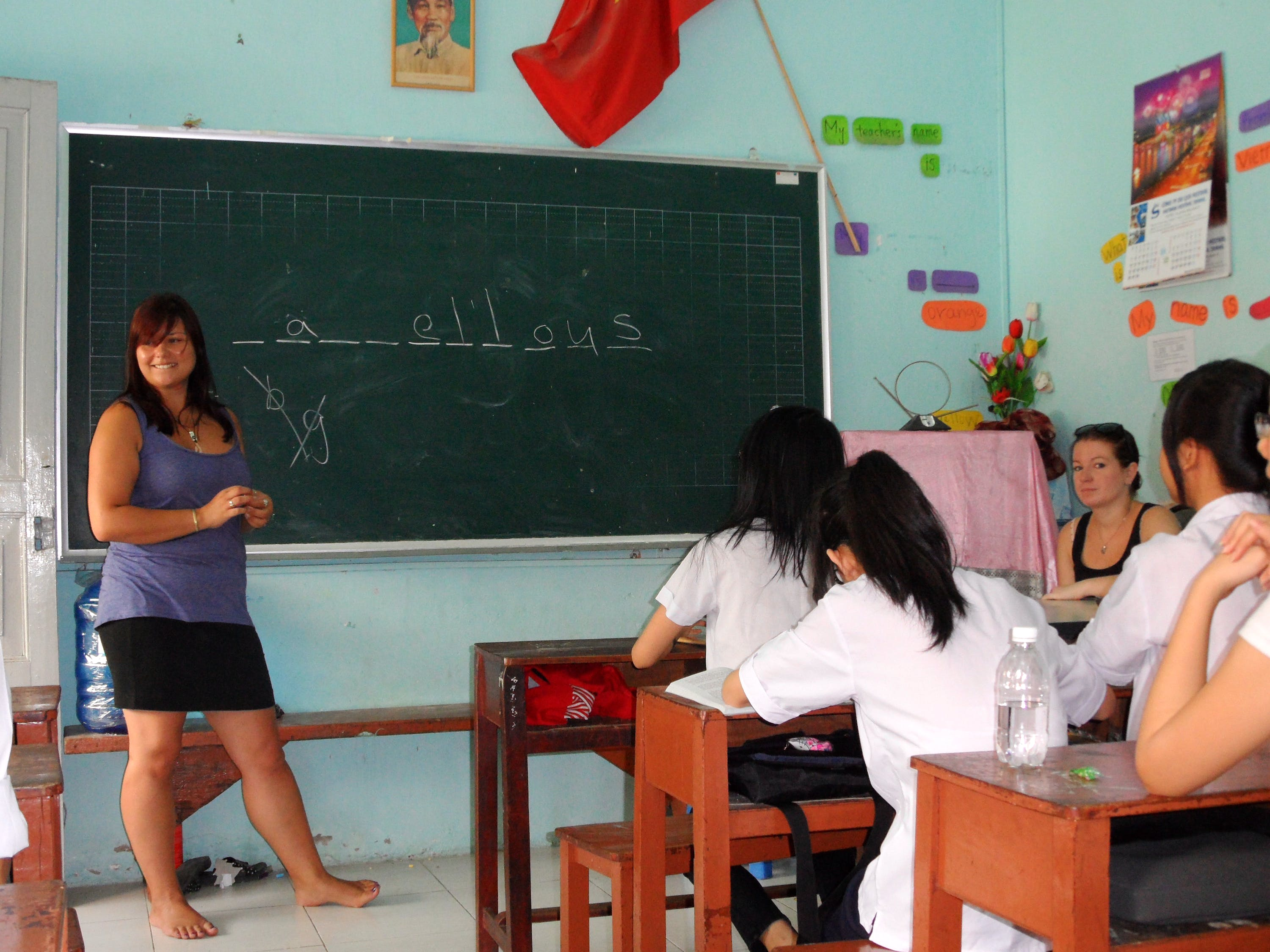 Teaching English to local Children
