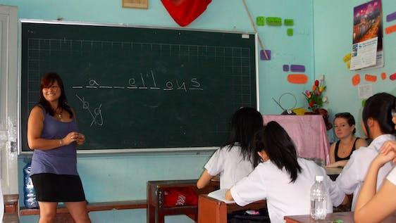 Teaching English to local Children
