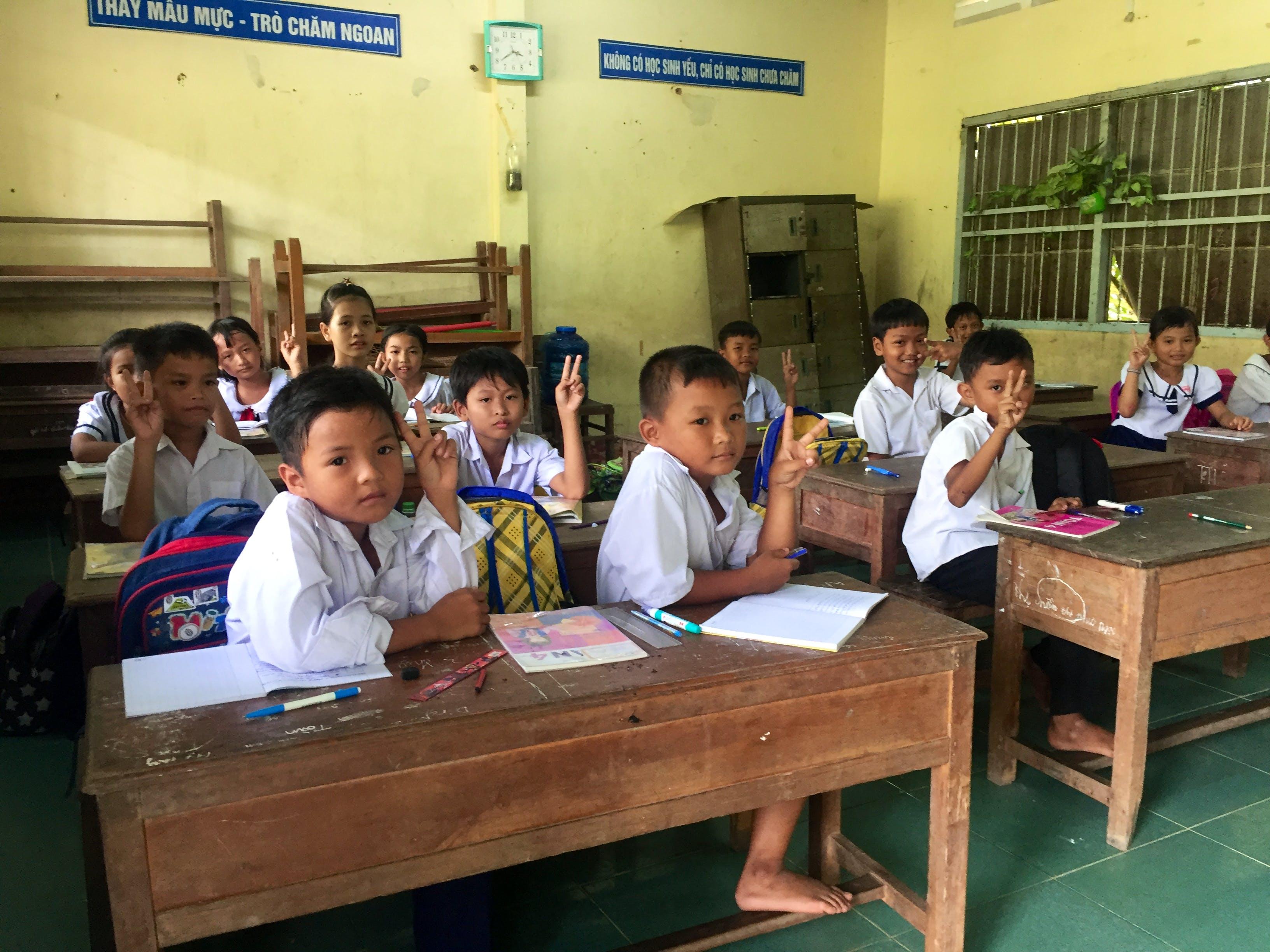 Teach underprivileged children in Mekong Delta