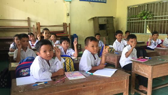 Teach underprivileged children in Mekong Delta
