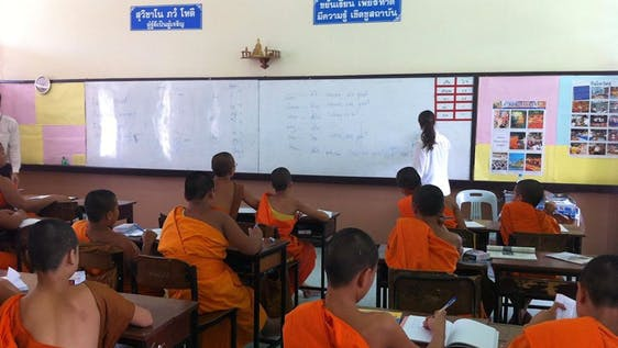 Teaching in a Monastery