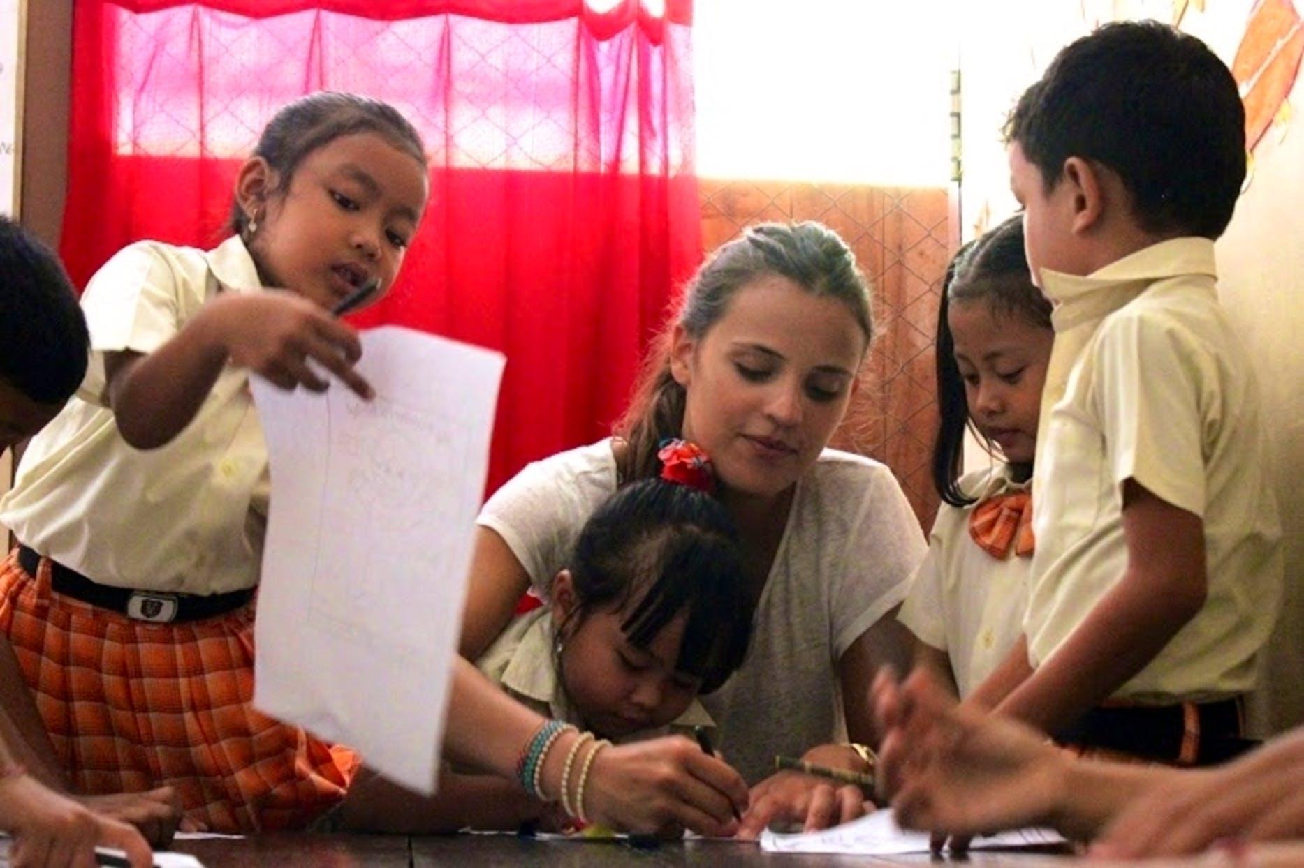 Teaching English at Local School Bali