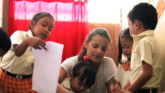 Teaching English at Local School Bali