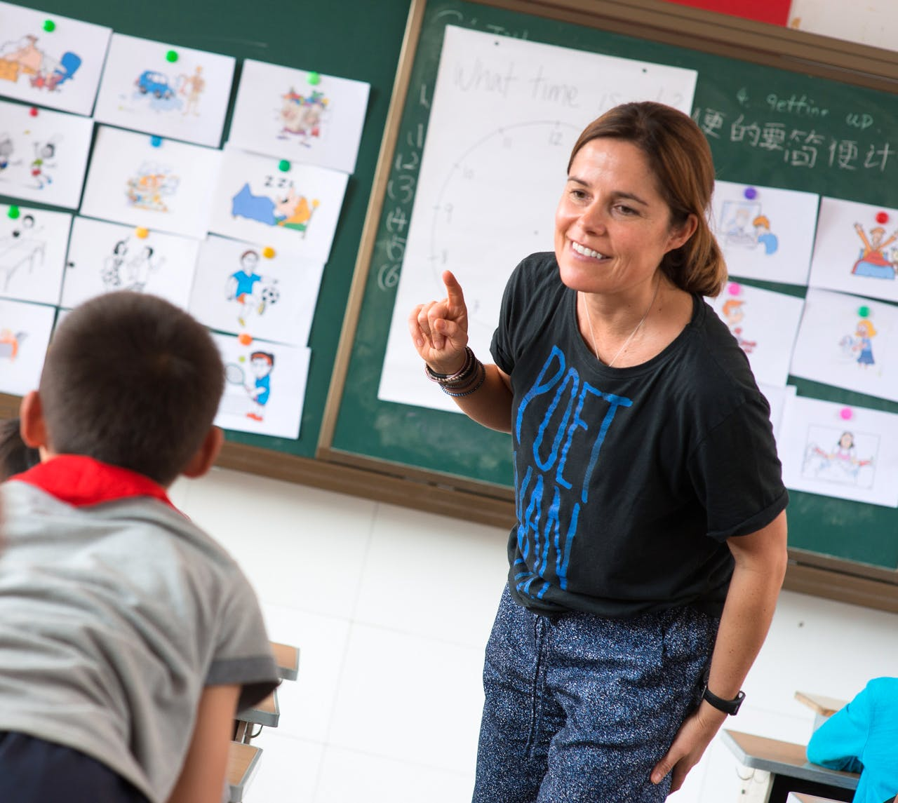 English Teacher for 'Left-behind' Children