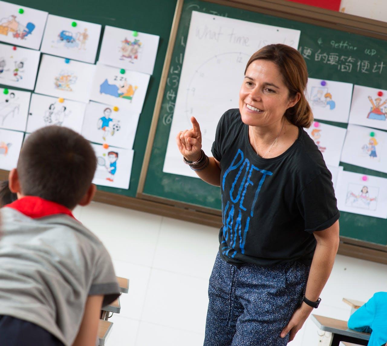 English Teacher for 'Left-behind' Children