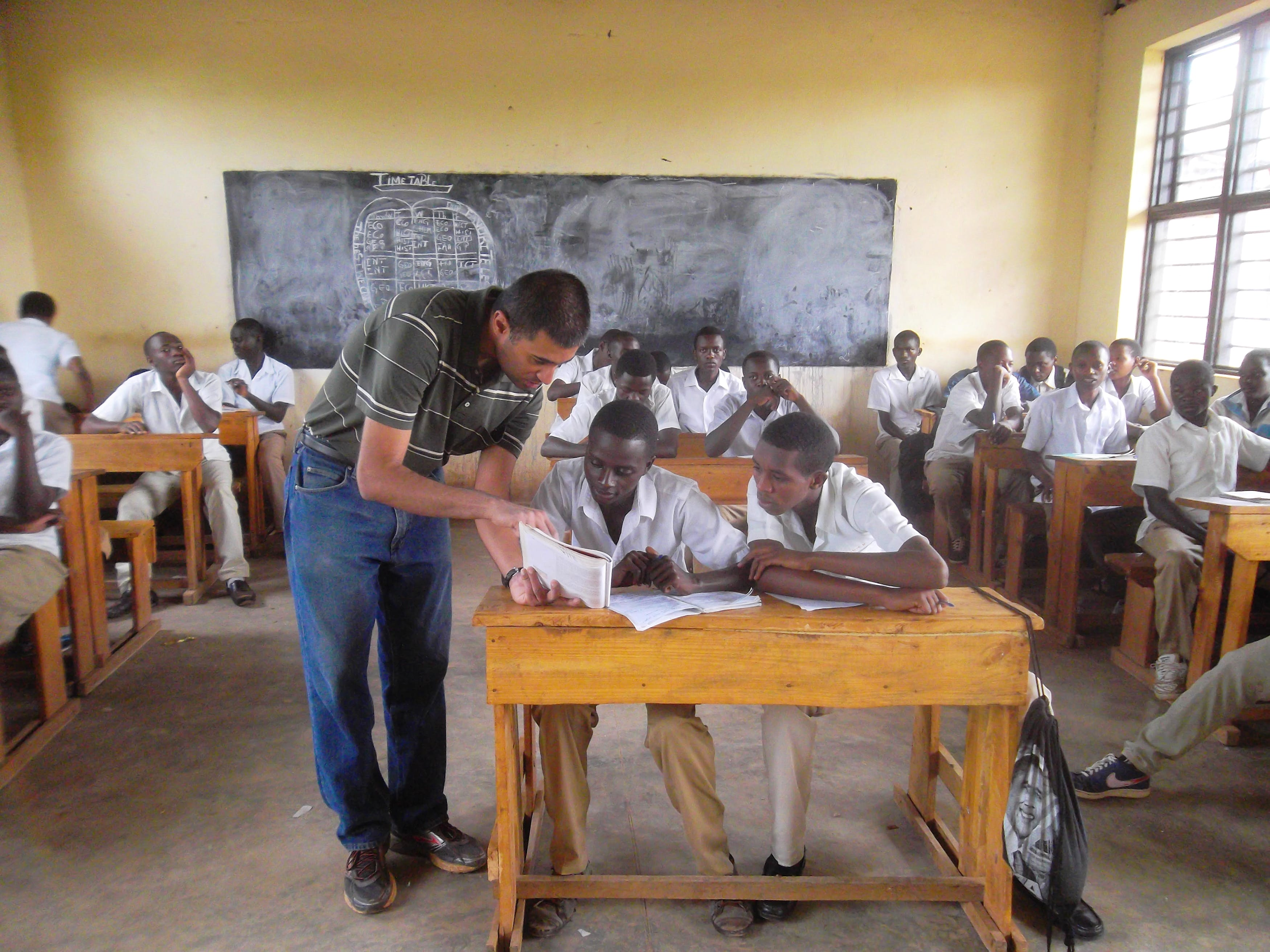 Teach and Interact with Local Students